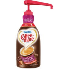 Coffee-Mate Salted Caramel Chocolate Creamer - 1.5L Liquid Pump Bottle - Salted Caramel Chocolate Flavor - 50.70 fl oz (1.50 L) - 1EachBottle - 300 Serving