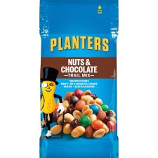 Planters Nut/Chocolate Trail Mix - Chocolate, Nutty - 2 oz - 72 / Carton