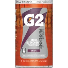 Gatorade Quaker Foods G2 Single Serve Powder - Powder - Grape Flavor - 0.52 fl oz (15 mL) - 8 / Pack