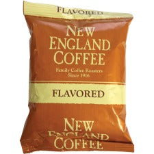 New England French Vanilla Coffee - French Vanilla, South American, Central American - Light/Medium - 2.5 oz Per Pack - 24 / Carton