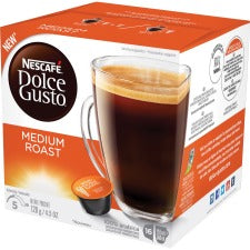 Nescafe Dolce Gusto Medium Roast Coffee Capsules Capsule - Compatible with Majesto Automatic Coffee Machine - Colombia, Brazilian, Ethiopian Blend, Jasmine, Toasty Spicy - Medium - 16 / Box