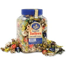 Office Snax Assorted Royal Toffee Candy - Assorted - Resealable Jar - 2.75 lb - 1 Each