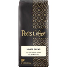 Peet's House Blend Dark Roast Coffee Whole Bean - House Blend - Dark - 16 oz - 1 Each