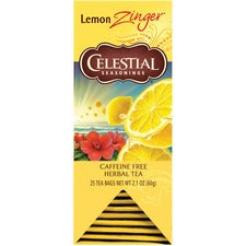 The Hain Celestial Tea, Herbal Lemon Zinger, 25/Box - Lemon Zinger - 25 Each