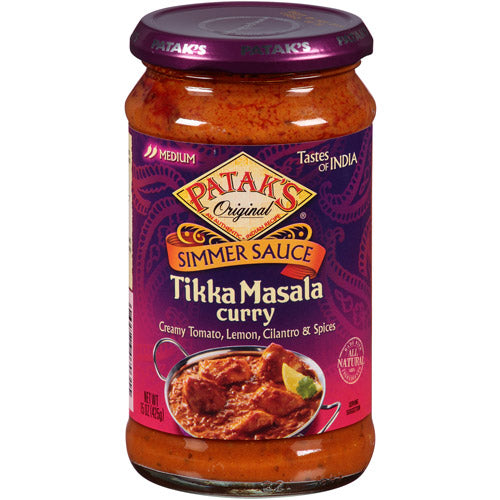 Patak's Tikka Masala Curry Simmer Sauce (Tangy Lemon and Cilantro - Medium)-0