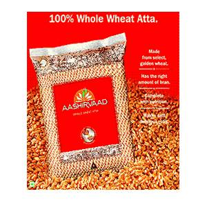 Aashirvaad 100% Whole Wheat Flour (Atta) - 11 Lbs-0