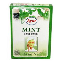 Ayur Mint Face Pack Anti-Septic Pack 3.5 OZ (100 Grams)-0