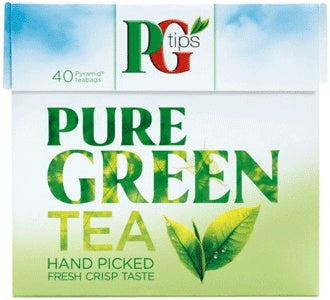 PG Tips Pure Green Tea 40 Pyramid Tea Bags 80 gm