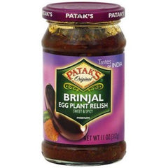Patak's Brinjal Relish - Pickle 11oz (312g)