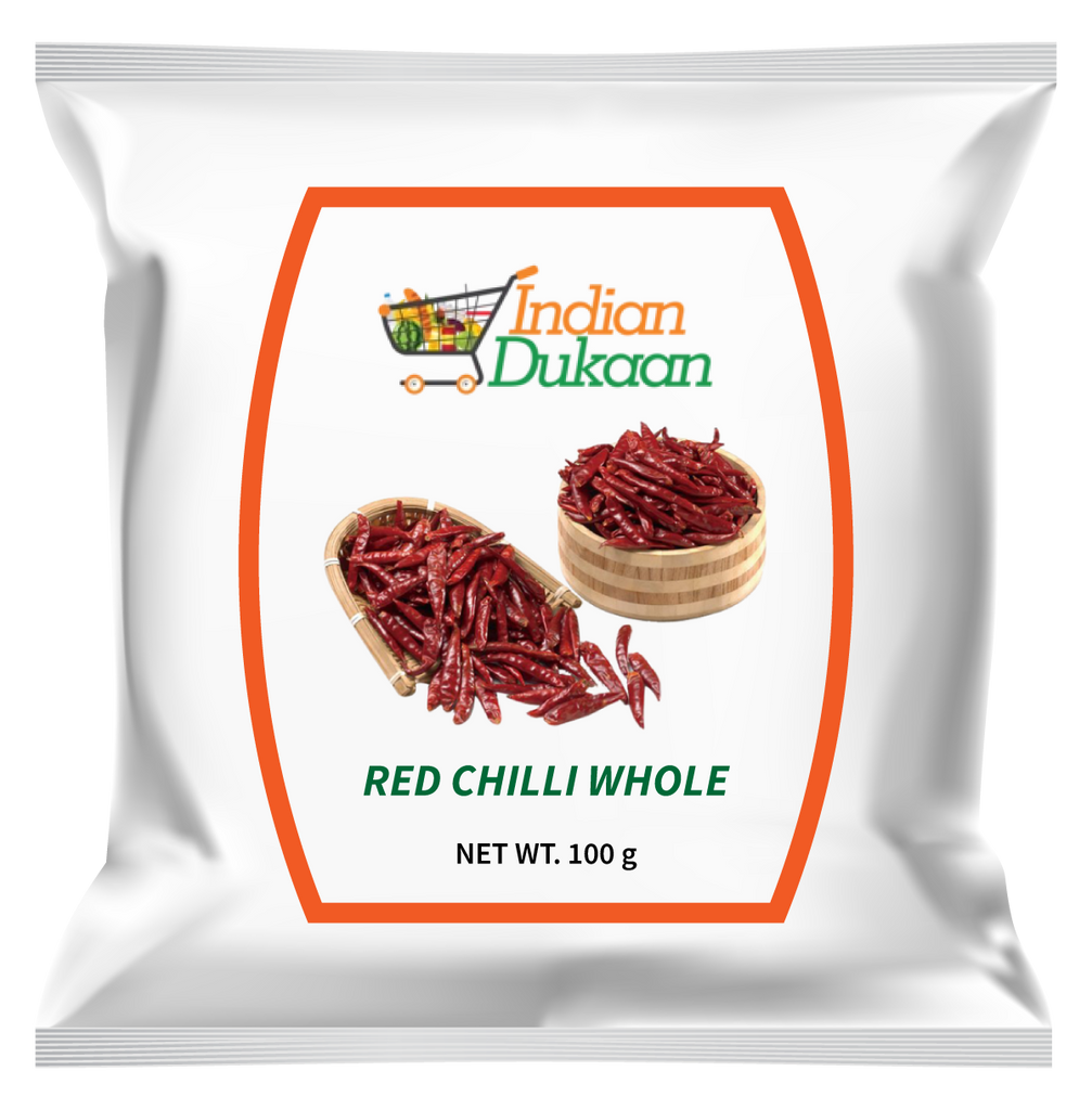IndianDukaan Red Chilli Whole 100g