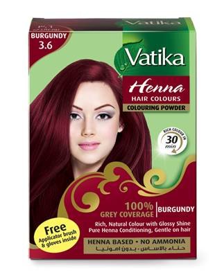 Dabur Vatika Henna Hair Color Burgundy 60 gm
