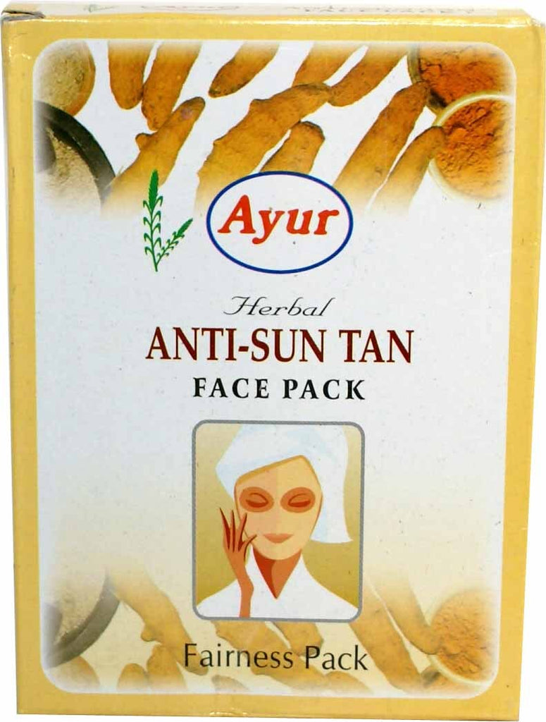 Ayur Herbal Anti-Sun Tan Face Pack (Fairness Pack) 3.5 OZ (100 Grams)-1249