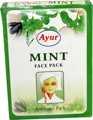 Ayur Mint Face Pack Anti-Septic Pack 3.5 OZ (100 Grams)-1247