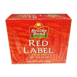 Brooke Bond Red Label Tea Bags - 100 Tea Bags 200 gm