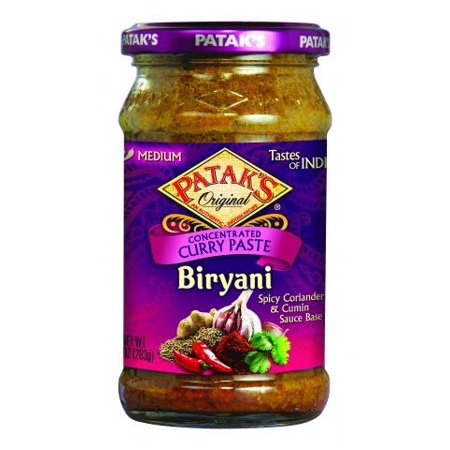 Patak's Biryani Curry Paste 10oz (283gm)