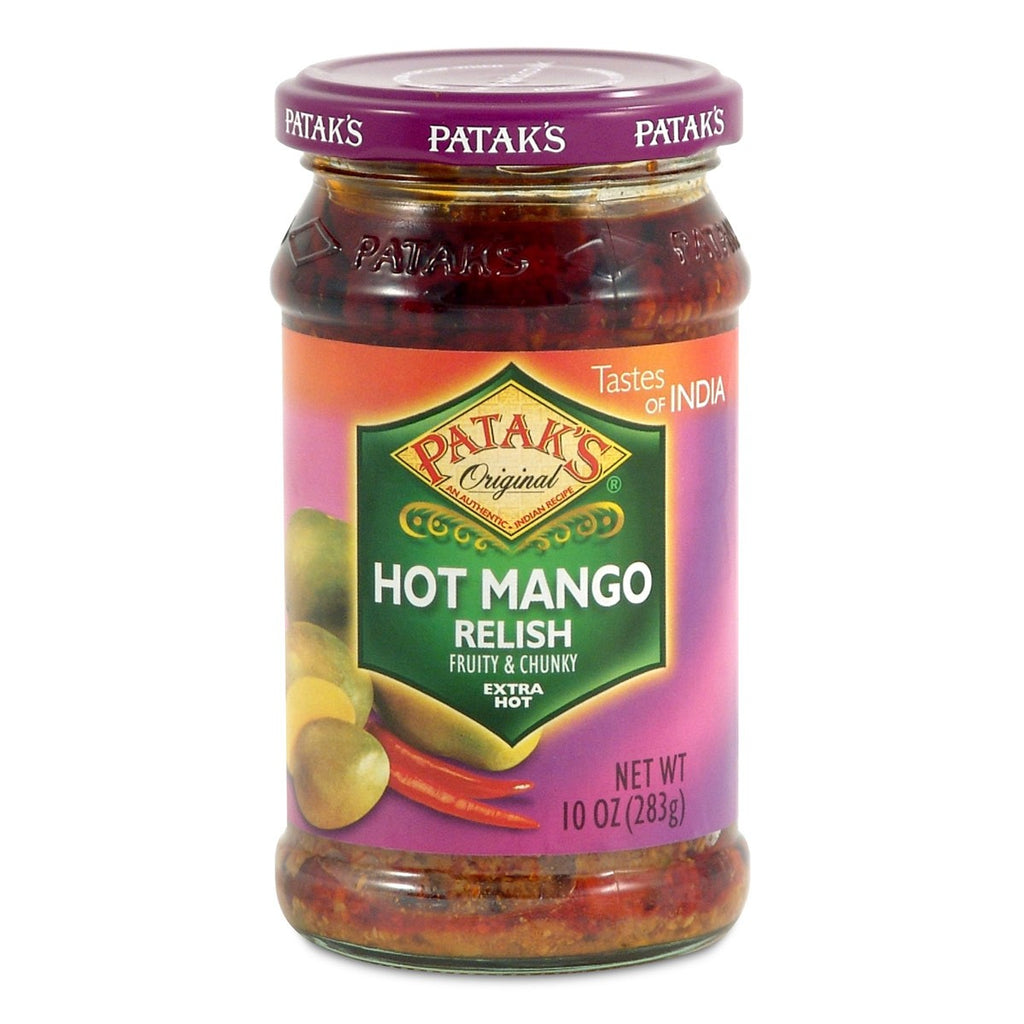 Pataks Hot Mango Relish - Pickle 10oz (283 gm)