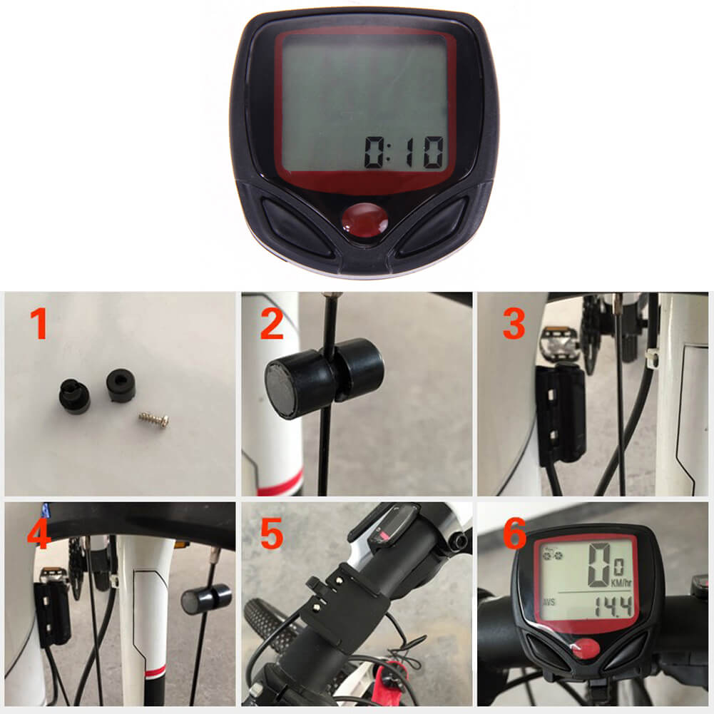 Waterproof 15 Function Bicycle Speedometer