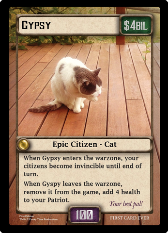 FIRST EVER FUNK CARD - Gypsy