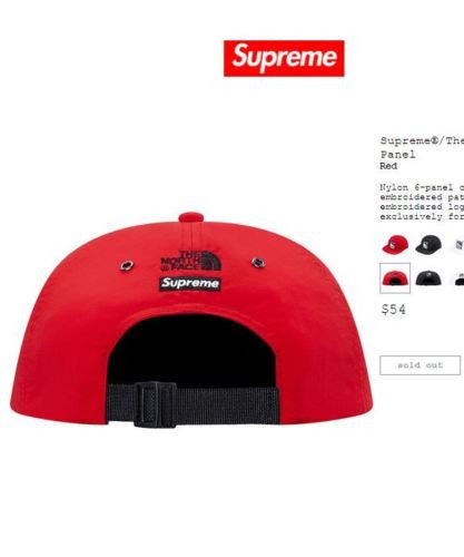 1dc3a997 Supreme x The North Face Steep Tech 6-panel Red - 1s0s5oles