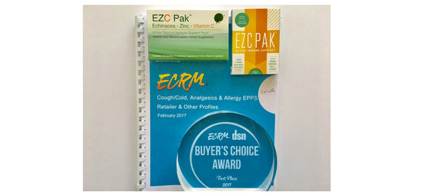 EZC Pak Wins National Cold & Cough Buyer's Choice Award