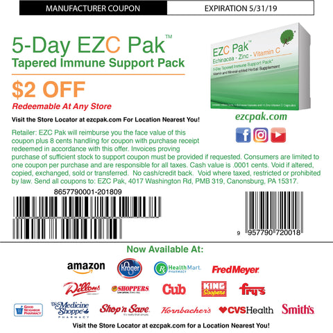 EZC Pak $2 Off Coupon