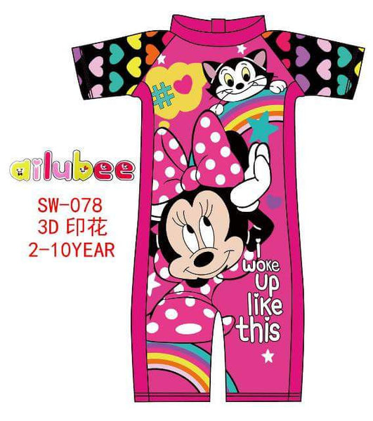 Swimsuit Kanak-kanak Minnie Mouse (SW-078) - Ready Stock