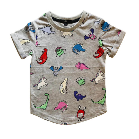 T-shirt Casual Animal Lover (Kelabu)