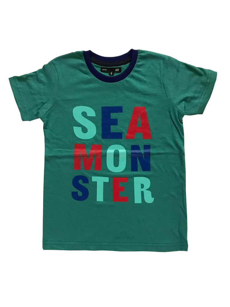 T-shirt Casual Sea Monster