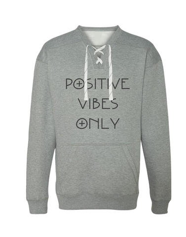 Positive Vibes Only Sport-lace Sweatshirt