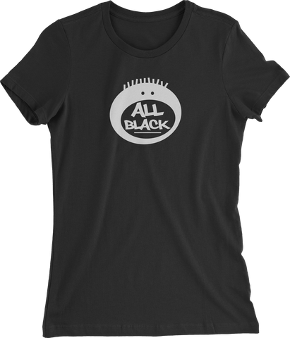 All Black Short Sleeve Women's T-shirt