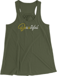 Beautiful (Be U) Women's Racerback Tank