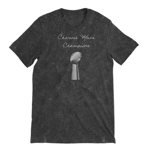 Chances Make Champions (NFL) Distressed Short Sleeve T-shirt