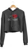 Heart of Detroit Cropped Hoodie