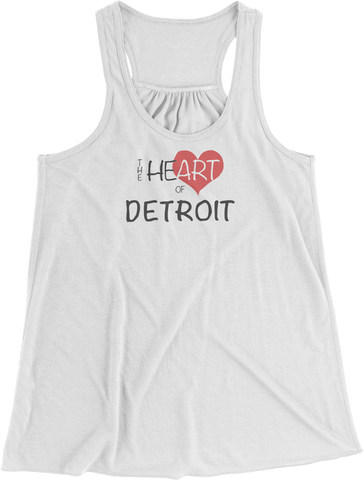Heart of Detroit Women's Racerback Tank