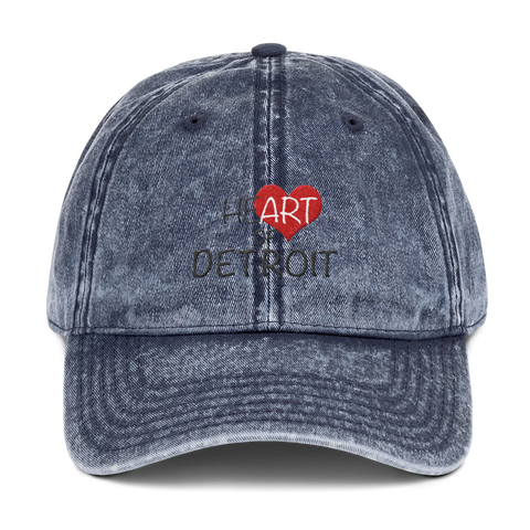 Heart of Detroit Distressed Dad Hat