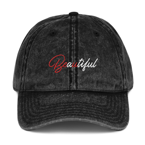 Beautiful (Be U) Distressed Dad Hat