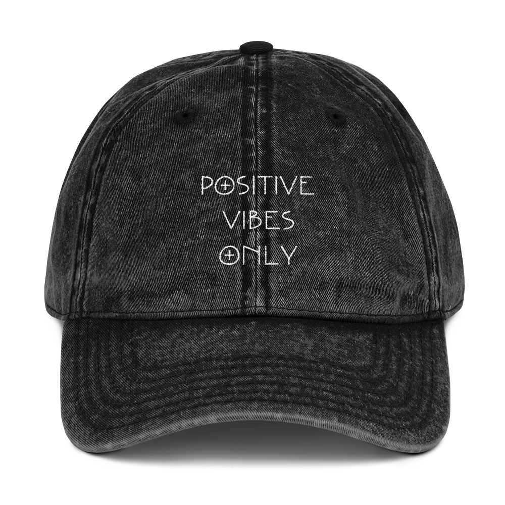 4ed74c41086 Positive Vibes Only Distressed Dad Hat – Team Elite Store