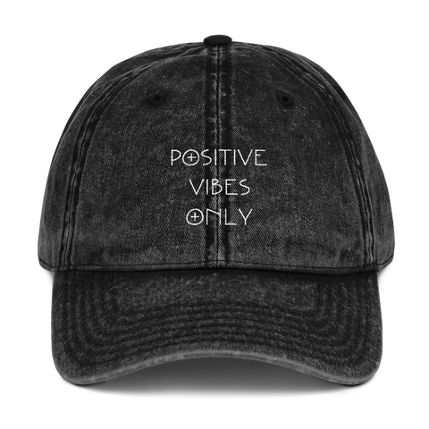 Positive Vibes Only Distressed Dad Hat