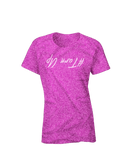 Turn Up Short Sleeve Glittered T-shirt