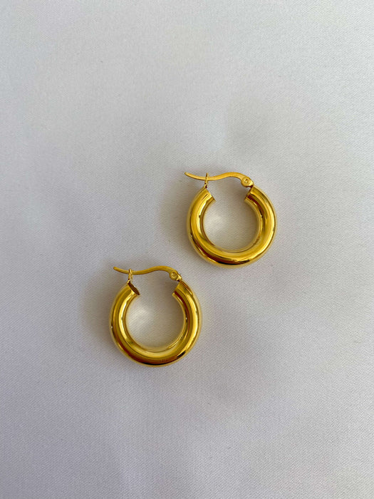 Gold hoop in plated goold