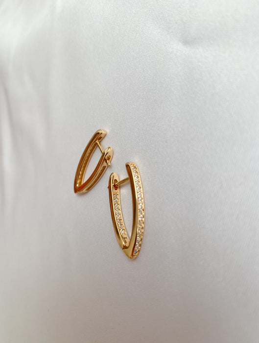 Glow gold hoop earrings