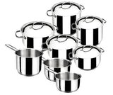Basic 8 Piece Stainless Steel 18/10 Cookware Set -32000