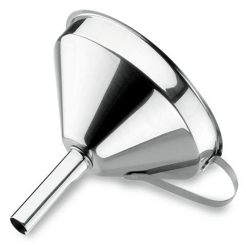 Stainless Steel Funnel with Strainer/ Movable Filter 10cm -62531 - CulinaryKraft