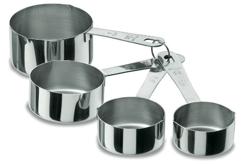 Measuring cup set 4pc s/steel 18/10 -67007 - CulinaryKraft