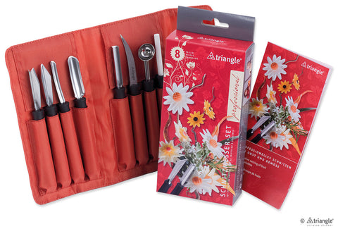 Carving tools set professional, 8 pieces -908180802 - CulinaryKraft