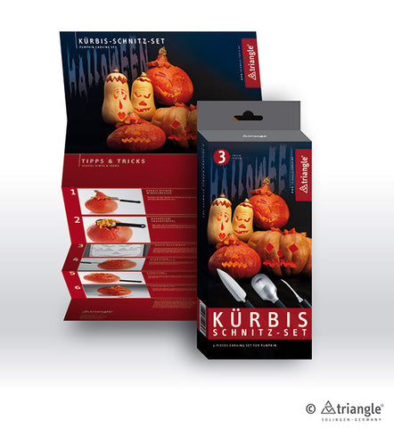 Pumpkin carving set, 3 pieces -908350302 - CulinaryKraft