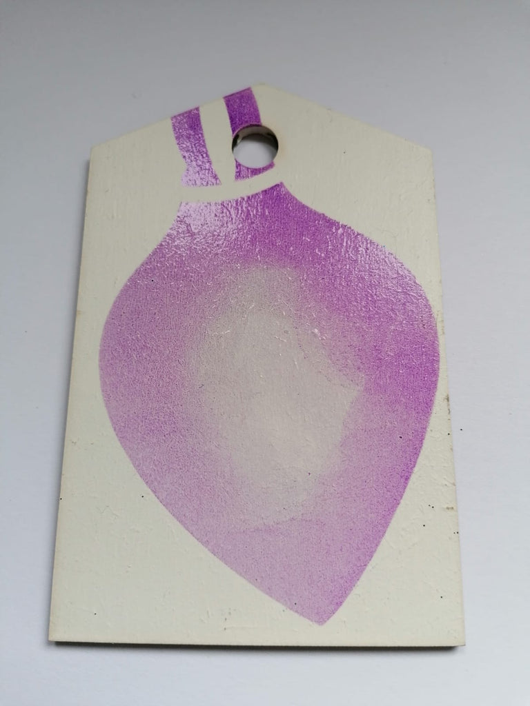 MDF Christmas bauble tag for Crafting