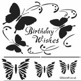 3D Birthday Wishes Stencil