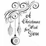 Christmas Stencil - A Christmas Wish for You