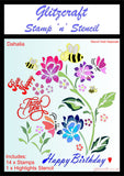 Dahlia Stamp and Stencil set